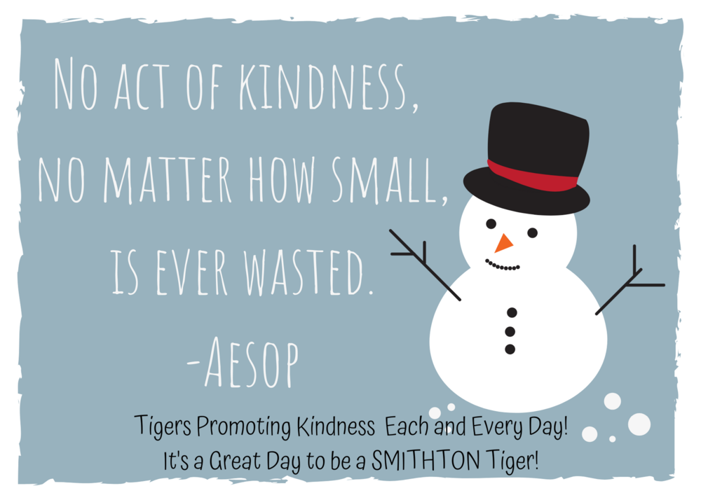 Tigers Promoting Kindness Each and Every Day!