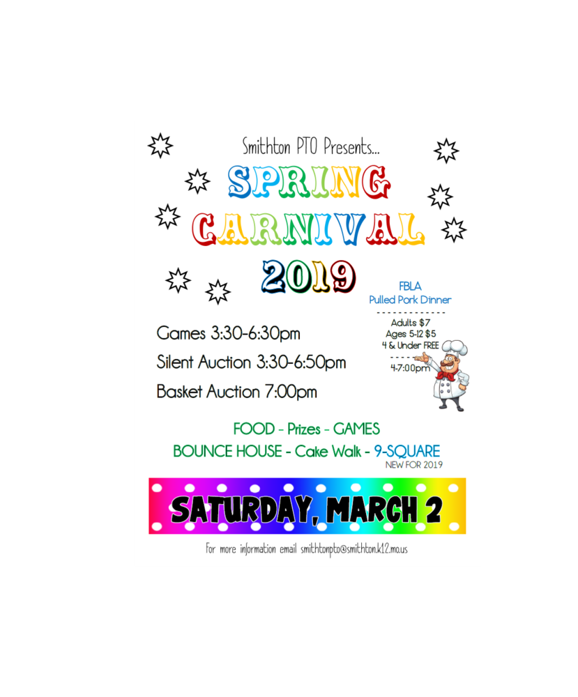 PTO Carnival - SATURDAY, MARCH 2