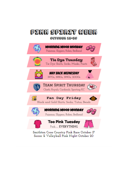 Pink Night Spirit Week