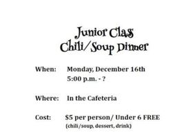 Junior Class Chili/Soup Dinner
